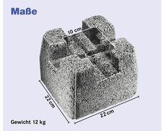 Beton Fundamentstein 22x22x17cm