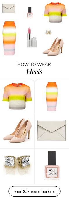 """Untitled #6682"" by mie-miemie on Polyvore featuring Jonathan Saunders, Rupert Sanderson, Rebecca Minkoff, TheBalm and ncLA"
