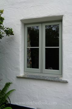 A customer installation at a cottage renovation. The Timberlook flush uPVC Casement windows in Painswick (with white woodgrain internally) were a perfect replacement for the existing wooden windows. Timber Windows, Upvc Windows, Sash Windows, Windows And Doors, Wooden Windows, Wooden Window Design, Exterior Windows, Cottage Windows, House Windows