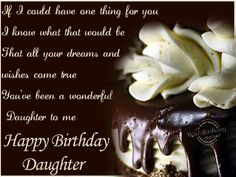 Happy Birthday to My Daughter .  On this day I gave birth to the joy of my life.  Love You always  Mom