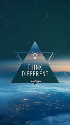 Think different, shop different, and live different. Positive Wallpapers, Inspirational Quotes Wallpapers, Motivational Quotes Wallpaper, Wallpaper Quotes, Cute Wallpapers, Goal Quotes, Success Quotes, Quote Backgrounds, Wallpaper Backgrounds