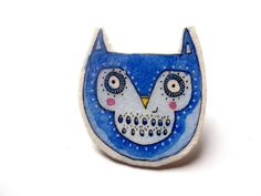 owl brooch from Heidi M