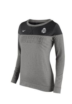 Nike Ohio State Buckeyes Womens Stadium Touchdown Grey Crew Sweatshirt