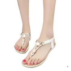 Womail Summer Artificial Gem Star Beaded Sandals Clip Toe Sandals Beach Shoes *** Check this awesome product by going to the link at the image.
