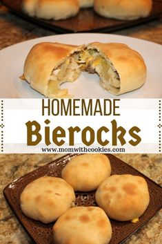 55 minutes · Makes 18 · Bierocks are a famous German dish consisting of ground hamburger, cabbage, and onion all encased in a sweet bread roll. The combination is amazing! Rock Recipes, Beef Recipes, Cooking Recipes, Curry Recipes, Family Recipes, Chicken Recipes, Bierocks Recipe Easy, Bierocks Recipe With Crescent Rolls, German Cuisine