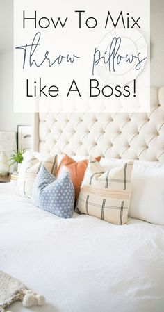 How To Mix Throw Pillows Like A Boss
