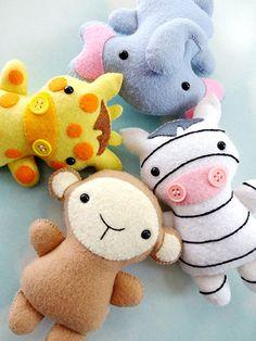 Sewing - Doll & Toy Patterns - Stuffed Animal Patterns - Jungle Animal Softies
