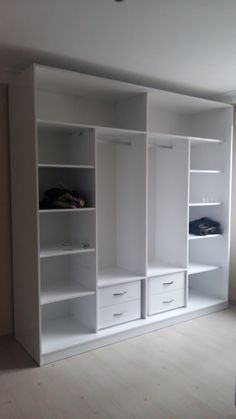 Add doors & you've got tack cabinetsBuilt-in interior wardrobesTori likes but not the color 😬Is your closet overflowing? Here are closet storage ideas to help you gain more control over your closet space.Browse creative closets and decor inspirati Wardrobe Interior Design, Wardrobe Door Designs, Wardrobe Design Bedroom, Bedroom Furniture Design, Closet Designs, Kitchen Furniture, Wardrobe Cabinet Bedroom, Bedroom Cupboard Designs, Bedroom Cupboards