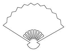 Fan Template Printable. hand fan template downloads craft ideas ...