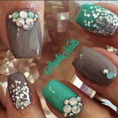 Stephanie Rochester @_stephsnails_ #greyish#custommi...Instagram photo   Websta (Webstagram)