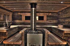 Sauna, love this sauna. So rustic and cozy Finland