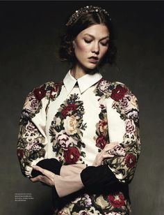 Model Karlie Kloss by Natalia Alaverdian for Harper's Bazaar Russia September #fashion #editorial
