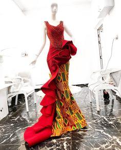 Ideas fashion african women dresses nigerian weddings for 2019 African Wedding Dress, African Print Dresses, African Dresses For Women, African Attire, African Wear, African Fashion Dresses, African Women, African Prints, Ghanaian Fashion