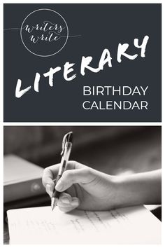 Writers Write is a one-stop writing resource and we've created this literary birthday calendar for you. Find your favourite authors' birthdays on one page. Writing Resources, Writing Prompts, Birthday Calendar, Writers Write, Fiction Writing, First Page, Trivia, Bookmarks, Authors
