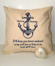 Anchor Wedding Personalized Pillow or Tote Bag by RavensThread, $45.00