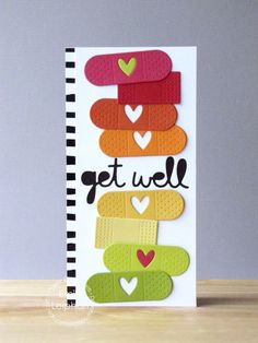 Get Well card by Emily Leiphart for Paper Smooches - Get Well 2 Die, Band Aids Dies