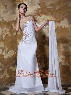 A-line One Shoulder Floor-length Beading Chiffon White Wedding Dresses Best Prom Dresses, Blue Wedding Dresses, Prom Dresses Online, Prom Gowns, Pageant Dresses, Quinceanera Dresses, Dresses 2013, Dress Online, Bridal Dresses