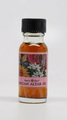 Wiccan Altar Oil - Sun's Eye Specialty Oils - 1/2 Ounce Bottle by Sun's Eye Specialty Oils. $8.29. 1/2 ounce bottle of high quality Sun's Eye brand oil.. Sun's Eye Oil made from aromatic herbs, blossoms, leaves, spices, woods, resins and essential oils.. Wiccan Altar Oil - crafted specifically for wiccan altars. Contains oils of all four elements in a base of frankincense. 1/2 ounce bottle of high quality Sun's Eye brand oil. Sun's Eye specialty oils, blended for thei...