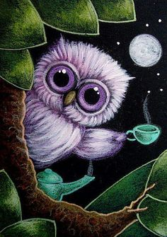 Owl have another cup of coffee, please!