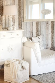 love this wall treatment