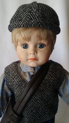 "John Robert ~ Haunted Porcelain Doll 16"" Newsboy Messenger ~ Paranormal Doll Active Spirit Ghost Doll by FugitiveKatCreations on Etsy"