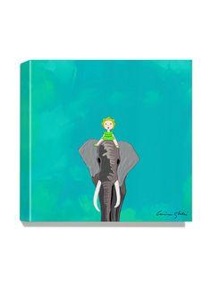 Antonia Press  Elephant Canvas Print
