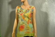 Nuno felted blouse top  Gift for Her by RaisaFelt on Etsy, $87.00