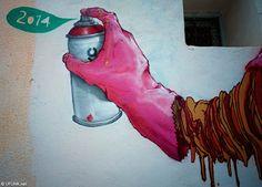 Je vous avais déjà parlé du projet street art Djerbahood, réunissant la crème du street art mondial pour envahir les rues du petit village tunisiend'Er