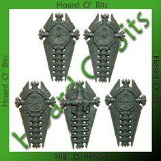 $5.99 - Warhammer 40K Bin Bits Necron Lychguard - 5X Dispersion Shield #ebay #Collectibles