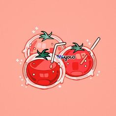Tomato juice These are freaking cute :))))) Kawaii Drawings, Cute Drawings, Hawke Dragon Age, Pelo Anime, Creation Art, Cute Art Styles, Kawaii Wallpaper, Food Drawing, Arte Pop