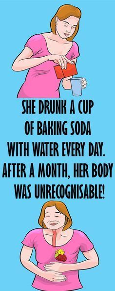 SHE DRUNK A CUP OF BAKING SODA WITH WATER EVERY DAY. AFTER A MONTH, HER BODY WAS UNRECOGNISABLE! – Healths World