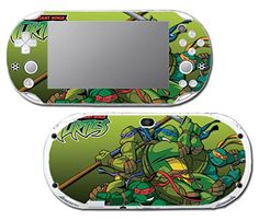 Teenage Mutant Ninja Turtles TMNT Leonardo Donatello Raphael Michaelangelo Cartoon Movie Shredder April Video Game Vinyl Decal Skin Sticker Cover for Sony Playstation Vita Slim 2000 Series System ** Continue to the product at the image link.Note:It is affiliate link to Amazon.