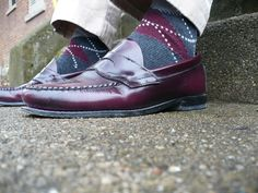 2c8e8c35fd7 Men s argyles with penny loafers - time to steal this classic from the guys!