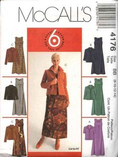 McCall's Sewing Pattern 4176 M4176 Misses Size 8-14 Easy Flared Dresses Button Front Jacket   McCall's+Sewing+Pattern+4176+M4176+Misses+Size+8-14+Easy+Flared+Dresses+Button+Front+Jacket