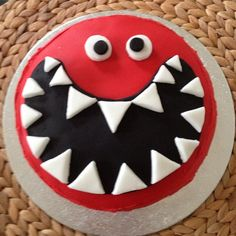 homebaked red nose day chocolate cake for comic relief 2013; ready for the b@titude cake sale