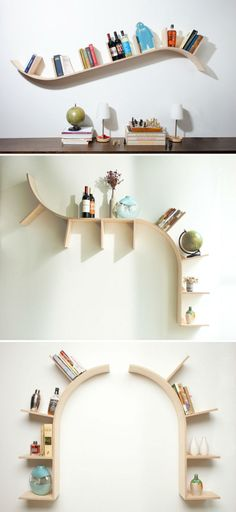 Designed by PerfekteVelle, these modern arched bookshelves let us say no to routine bookshelves, jealous y