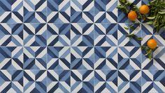 Sample Tangier Blue Star Moroccan Victorian Vintage Porcelain Wall Floor Tiles