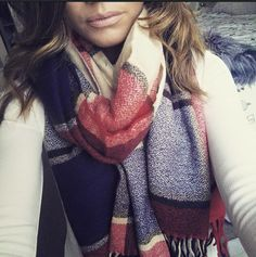Gorgeous Customer wearing her scarf brought from us at Rhubarb & Crumble.  www.rhubarbandcrumble.co.uk