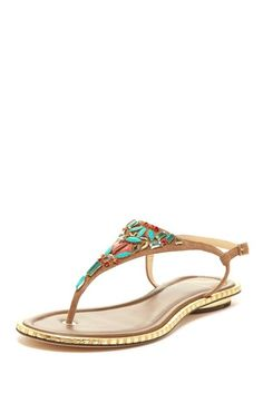 B Brian Atwood Clemence Jeweled Sandal $145.00...DIY...enhance with colored stones of your choice and super glue! Jeweled Sandals, Super Glue, Brian Atwood, Stones, Nordstrom, Jewels, Boots, Diy, Ideas