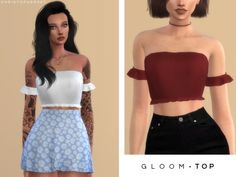 Gloom Top for The Sims 4