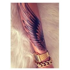 35 Breathtaking Wings Tattoo Designs ❤ liked on Polyvore featuring accessories, body art and tattoos