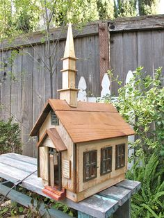 Vintage Wood Church House OOAK  Dollhouse by UnderTheSycamores, $225.00