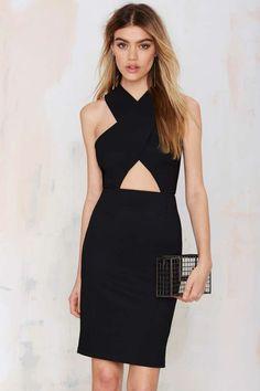 Glamorous Chiquita Cutout Bodycon Dress - Black - LBD | Going Out