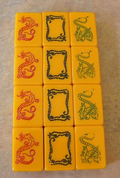 Mah Jongg Dragons: Red, White (Soap), Green (Royal Depth Control Dragon)