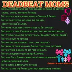 Spot on! Could be a deadbeat mom OR dad.if a parent is doing this, they are the deadbeat. Baby Mama Drama, Baby Momma, Deadbeat Moms, Mom Definition, Fathers Rights, Narcissistic Mother, Narcissistic Behavior, Narcissistic Sociopath, Family Court