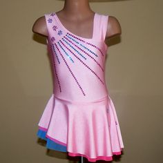 Hey, I found this really awesome Etsy listing at https://www.etsy.com/listing/216531549/figure-skating-dress-pink-size-2t