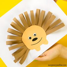 animal crafts for kids Papierstreifen Igel - basteln - Animal Crafts For Kids, Fall Crafts For Kids, Toddler Crafts, Animals For Kids, Art For Kids, Toilet Paper Roll Crafts, 3d Paper Crafts, Paper Crafts For Kids, Easy Crafts