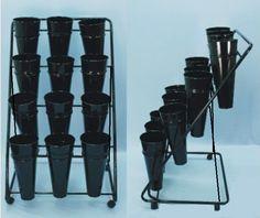 12-Bucket Flower Display Rack- 4-Tier- Each