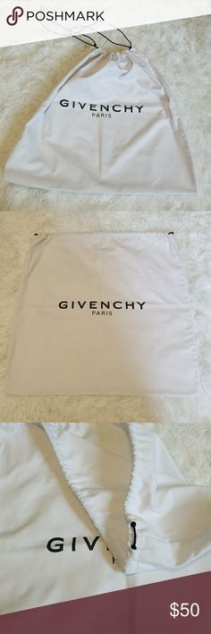 """Givenchy dust bag Good shape. Needs to be cleaned, found at a thrift store so has some signs of sitting on a dusty shelf. Not bad though, nothing a little tide won't take out! W19""""  L20"""". Great for traveling! Or carring groceries. Fashionable, reusable bag Givenchy Bags Travel Bags"""