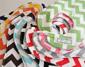 Chevron Baby Bibs and/or Burp Cloths, pick any 5 for 35.00